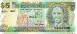 5 Dollars BARBADE  2007 P.67 pr.NEUF