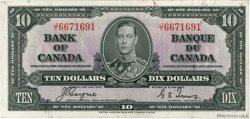 10 Dollars CANADA  1937 P.061c pr.SUP