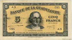 5 Francs GUADELOUPE  1942 P.21a TTB