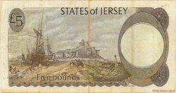 5 Pounds JERSEY  1983 P.12b TB+