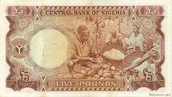 5 Pounds NIGERIA  1968 P.13a TTB à SUP