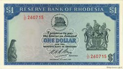 1 Dollar RHODÉSIE  1971 P.30a NEUF