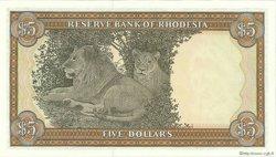 5 Dollars RHODÉSIE  1978 P.32b pr.NEUF
