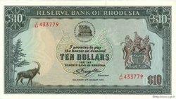 10 Dollars RHODÉSIE  1978 P.33c SPL