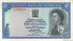 10 Shillings RHODÉSIE  1966 P.27a TTB+