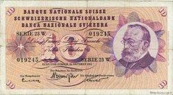 10 Francs SUISSE  1961 P.45h TTB