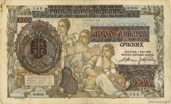 1000 Dinara SERBIE  1941 P.24 TB+