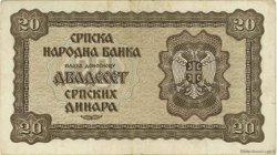 20 Dinara SERBIE  1941 P.25 TTB