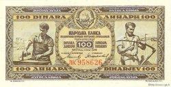 100 Dinara YOUGOSLAVIE  1946 P.065b NEUF