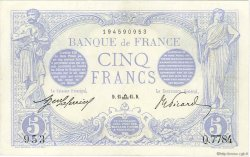 5 Francs BLEU FRANCE  1915 F.02.31 SUP+