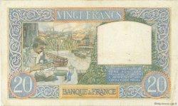 20 Francs SCIENCE ET TRAVAIL FRANCE  1941 F.12.17 TTB