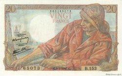 20 Francs PÊCHEUR FRANCE  1947 F.13.11 pr.SPL