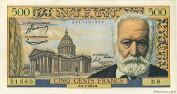 500 Francs VICTOR HUGO FRANCE  1954 F.35.01 SUP