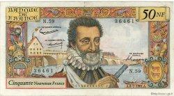 50 Nouveaux Francs HENRI IV FRANCE  1961 F.58.06 TB+