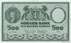 500 Kroner NORVÈGE  1966 P.34d SUP+