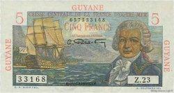 5 Francs Bougainville GUYANE  1946 P.19a pr.SPL
