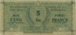 5 Francs NOUVELLES HÉBRIDES  1949 P.01 TB
