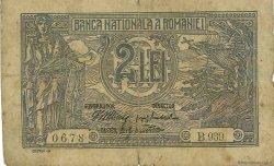 2 Lei ROUMANIE  1915 P.018 B