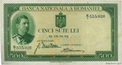 500 Lei ROUMANIE  1934 P.036a TTB