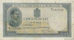 500 Lei ROUMANIE  1936 P.042a TB