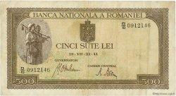 500 Lei ROUMANIE  1941 P.051a TTB