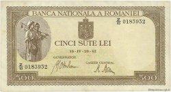 500 Lei ROUMANIE  1942 P.051a TTB