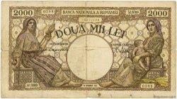 2000 Lei ROUMANIE  1944 P.053a B+
