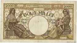 2000 Lei ROUMANIE  1943 P.054a TB