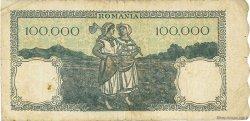 100000 Lei ROUMANIE  1946 P.058a TB