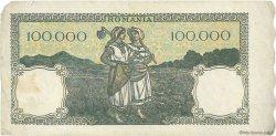 100000 Lei ROUMANIE  1946 P.058a TB+