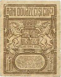 25 Bani ROUMANIE  1917 P.070 B+