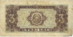 3 Lei ROUMANIE  1952 P.082b TB