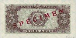 3 Lei ROUMANIE  1952 P.082s pr.NEUF