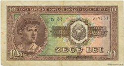 10 Lei ROUMANIE  1952 P.088b TB
