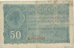 50 Bani ROUMANIE  1917 P.M02 TB