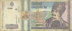 5000 Lei ROUMANIE  1992 P.103 pr.TB