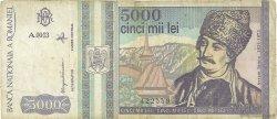 5000 Lei ROUMANIE  1993 P.104 TB