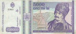 5000 Lei ROUMANIE  1993 P.104 TTB