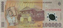 100000 Lei ROUMANIE  2001 P.114 TTB