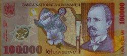 100000 Lei ROUMANIE  2001 P.114 SUP