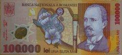 100000 Lei ROUMANIE  2001 P.114a NEUF