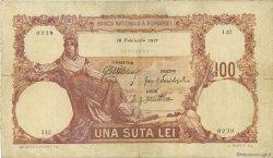100 Lei ROUMANIE  1917 P.025 TB