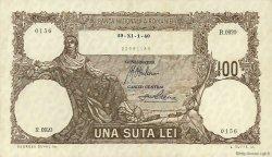 100 Lei ROUMANIE  1940 P.050a SUP