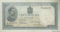 500 Lei ROUMANIE  1940 P.042a pr.NEUF