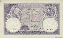 5 Lei ROUMANIE  1928 P.019a pr.SUP