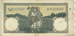100000 Lei ROUMANIE  1945 P.058a TTB