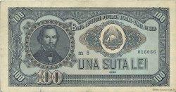 100 Lei ROUMANIE  1952 P.090b TTB