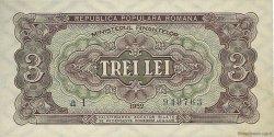 3 Lei ROUMANIE  1952 P.082b NEUF