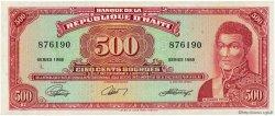 500 Gourdes HAÏTI  1988 P.252a SUP à SPL
