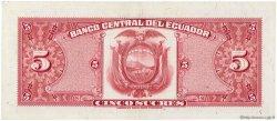 5 Sucres ÉQUATEUR  1970 P.100d SPL